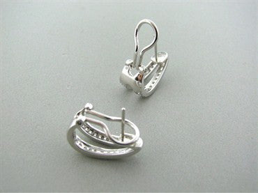 image of Simon G 18k White Gold Diamond Earrings