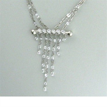 image of New Gurhan Platinum Diamond Briolette Necklace