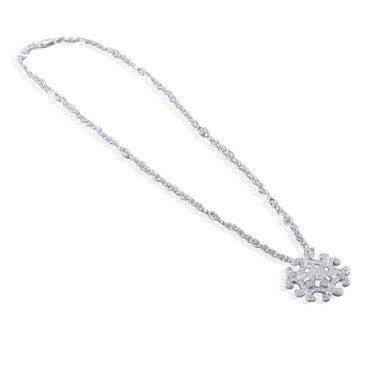 image of New Charriol Signature 18k White Gold Diamond Necklace
