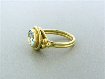 thumbnail image of New Temple St. Clair 18K Gold Aquamarine Ring