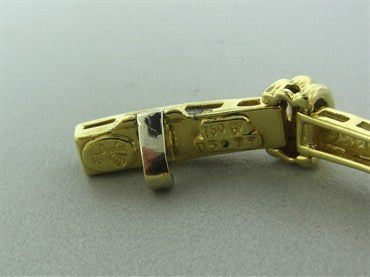 thumbnail image of Henry Dunay 18K Yellow Gold Hammered Finish 2.50ctw Diamond Bracelet