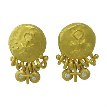 image of Denise Roberge 22k Gold Diamond Earrings