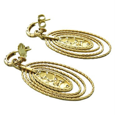 thumbnail image of John Hardy Kali 18K Gold Oval Drop Earrings