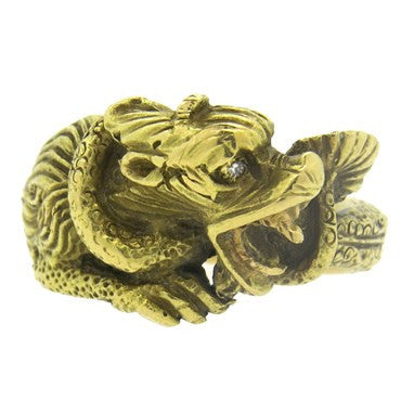 thumbnail image of Gold Diamond Dragon Ring