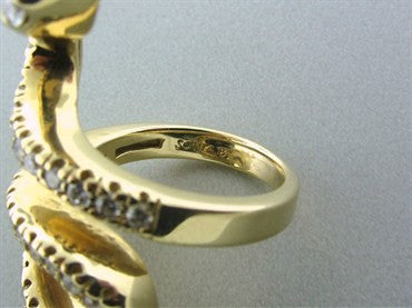 thumbnail image of Sonia B. 14K Yellow Gold 1.70ctw Diamond Seprent Snake Ring