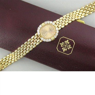 image of Patek Philippe 18k Gold Diamond Watch Bracelet 4774 2