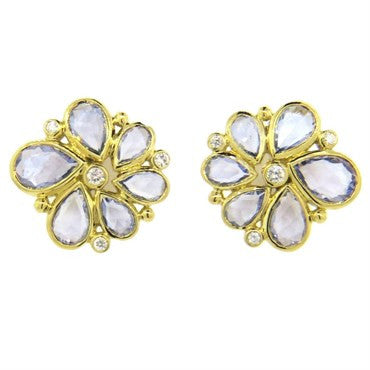 image of Temple St. Clair Sapphire Diamond Gold Earrings