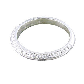 image of Hearts On Fire Felicity Knife Edge Pave Diamond Wedding Band Ring