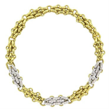 thumbnail image of Pomellato 2.00ctw Diamond 18k Gold Choker Necklace