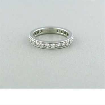 image of Tiffany & Co Platinum 1.21ctw Diamond Wedding Band Ring