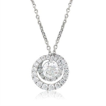 image of New Hearts On Fire Nordic 1.00ctw Diamond Pendant Necklace