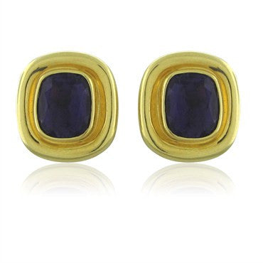 image of Tiffany & Co Paloma Picasso 18K Yellow Gold Amethyst Earrings