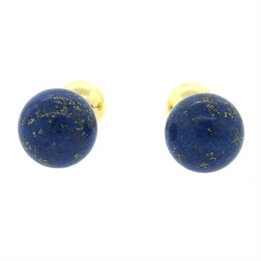 image of Gold Lapis Ball Cufflinks