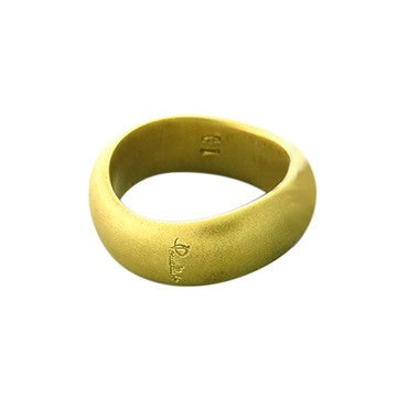image of New Pomellato 18k Gold Satin Finish Wave Band Ring