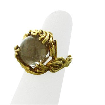 image of Gilbert Albert 18K Gold Interchangeable 4pc Multi Gemstone Ring