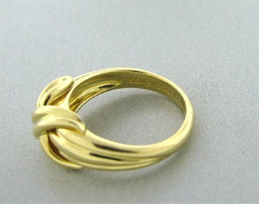 image of Tiffany & Co Signature 18k Yellow Gold X Ring