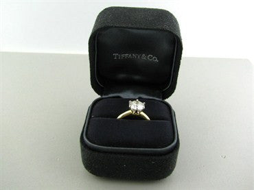 image of Tiffany & Co 18K Gold Platinum 1.81ct Diamond Triple Engagement Ring