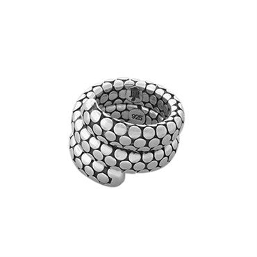 thumbnail image of John Hardy Sterling Silver Double Coil Dots Collection Wrap Ring