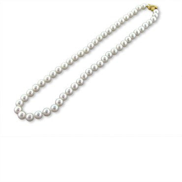 image of Estate Tiffany & Co Signature 18k Gold Pearl Necklace