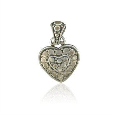 image of Estate John Hardy Sterling Silver Heart Pendant