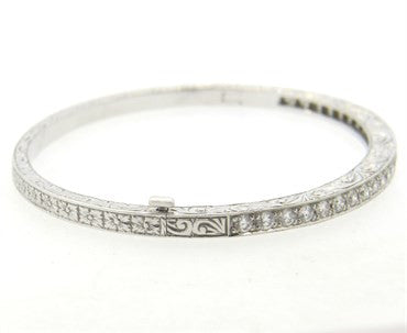 image of Penny Preville 18k Gold Diamond Bangle Bracelet