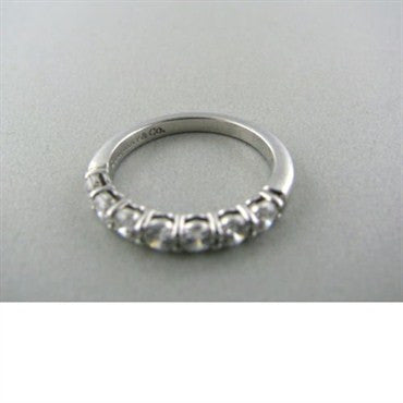 thumbnail image of Tiffany & Co Platinum Diamond Wedding Band Ring