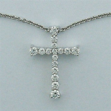 image of Hearts On Fire Divine Journey Diamond Cross Necklace