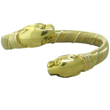 thumbnail image of Cartier Panther 18K Gold Bangle Bracelet
