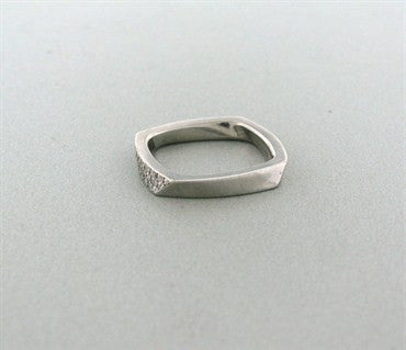 image of Tiffany & Co Frank Gehry Torque 18k White Gold Diamond Ring