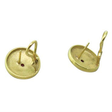 thumbnail image of 1980s 18k Gold Ruby Earrings
