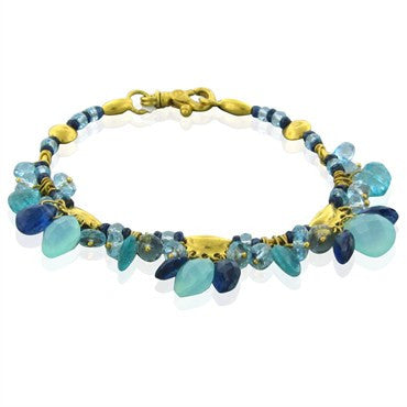 image of New Gurhan 24K Yellow Gold Confetti Multi Gemstone Bracelet