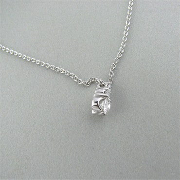 image of New Hearts On Fire Triplicity Diamond Pendant 18K Gold Necklace