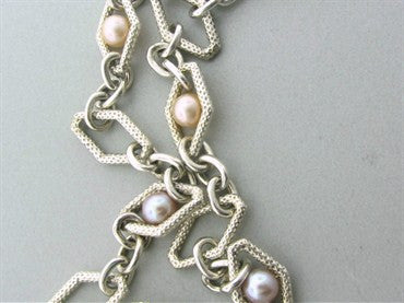 thumbnail image of Charles Krypell Sterling Silver Pearl Long Necklace