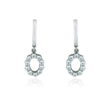 image of Whimsical Drop Hearts On Fire 18k Gold Diamond Earrings