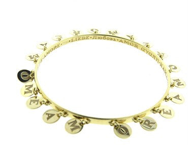 thumbnail image of Pasquale Bruni Amore Gold Charm Bangle Bracelet