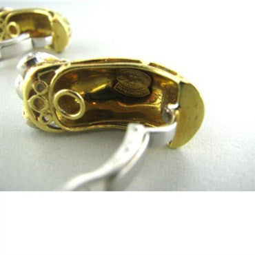 thumbnail image of Frascarolo Italy 18k Gold Diamond Earrings
