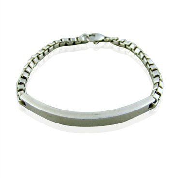 image of Tiffany & Co. Sterling Silver Venetian Link I.D. Bracelet