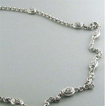 thumbnail image of New Scott Kay Sterling Silver Link Necklace