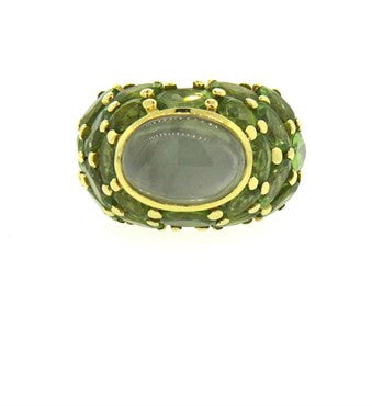 thumbnail image of Large Mimi So Gold Peridot Gemstone Cocktail Ring