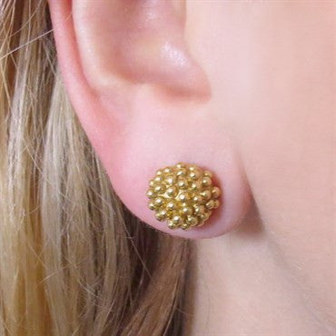 image of Julius Cohen 22k Gold Stud Earrings