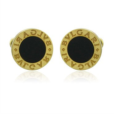 image of Bvlgari Bulgari 18K Yellow Gold Onyx Cufflinks
