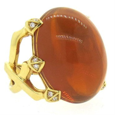 thumbnail image of Stephen Webster 35.5 Ct Citrine Diamond Gold Cocktail Ring