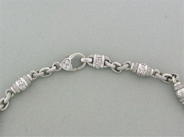 image of Judith Ripka 18K White Gold Diamond Chain Necklace