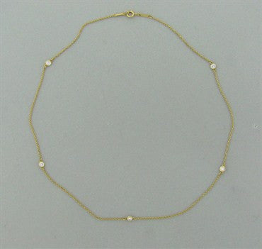 thumbnail image of Tiffany & Co Peretti Diamonds By The Yard 18K Gold Diamond Necklace