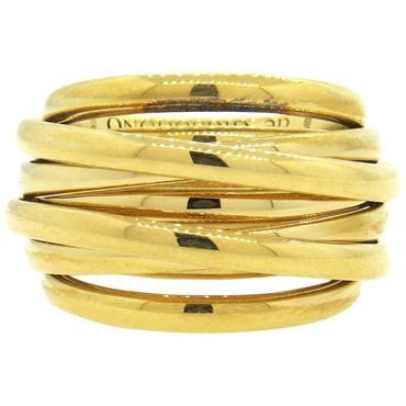 thumbnail image of De Grisogono Matassa Wide 18k Gold Dome Ring