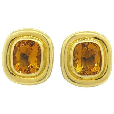 image of Tiffany & Co. Paloma Picasso Citrine 18k Gold Earrings