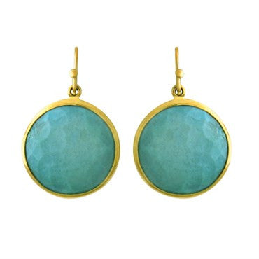 thumbnail image of Ippolita 18k Gold Turquoise Round Earrings