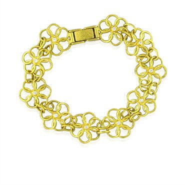 image of New Gurhan 24K Gold 17mm Daisy Diamond Bracelet