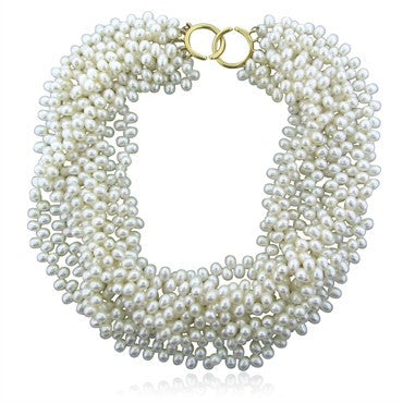 image of Tiffany & Co Paloma Picasso 18K Gold Pearl Torsade Necklace