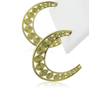 thumbnail image of New Temple St Clair 18k Gold Hoop Earrings